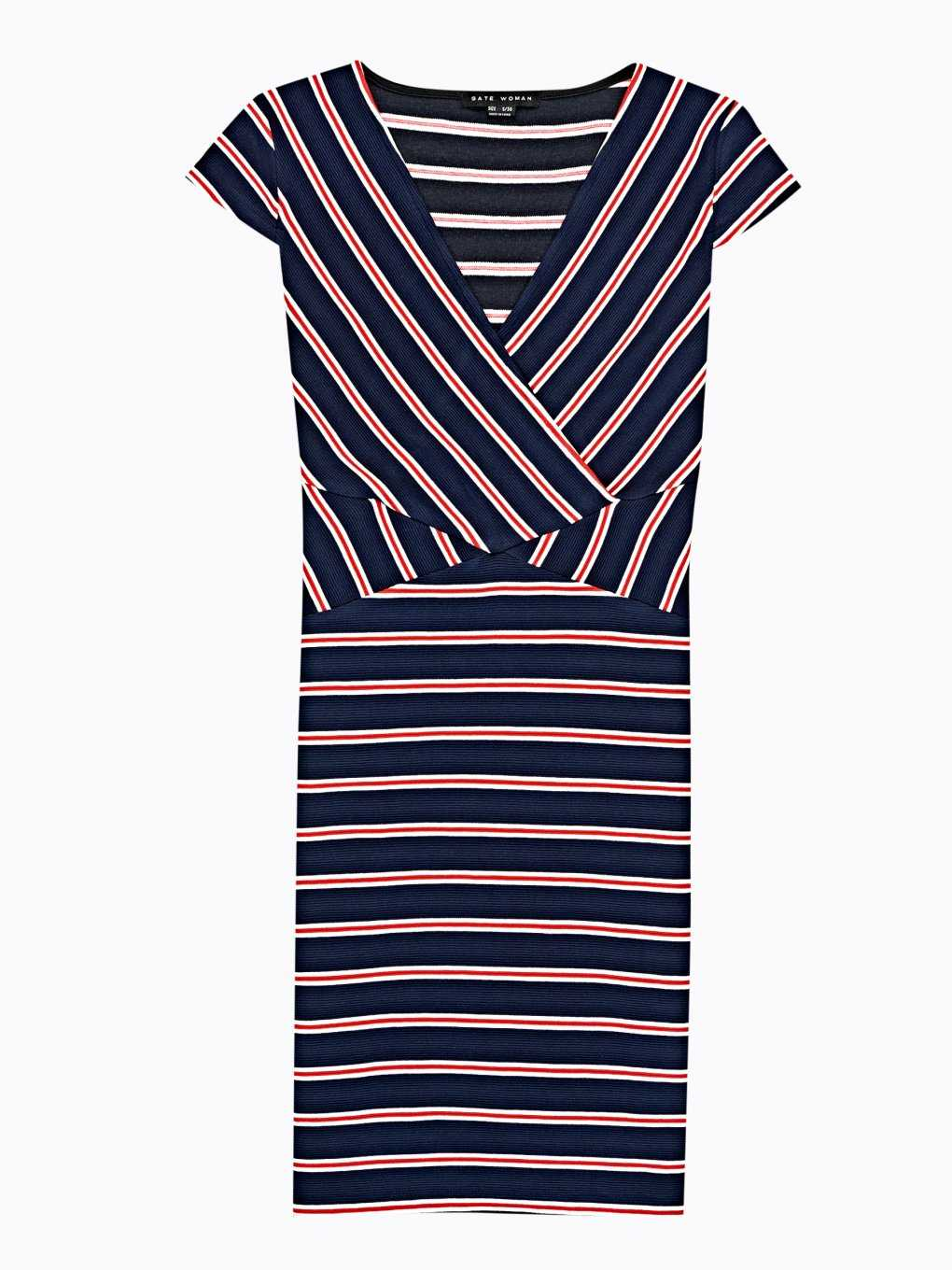 STRIPED BODYCON MINI DRESS
