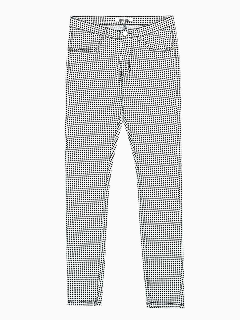 GINGHAM SKINNY TROUSERS
