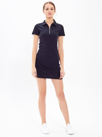 BODYCON MINI DRESS WITH ZIPPER
