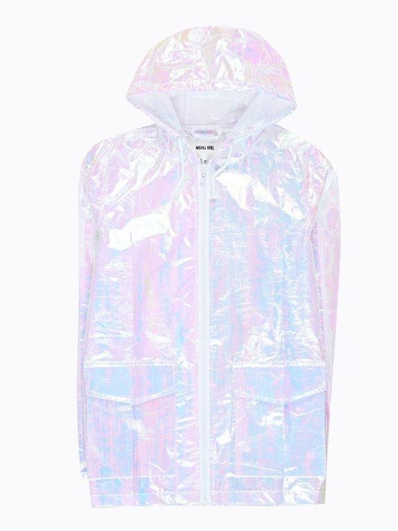 Holografická bunda s kapucňou