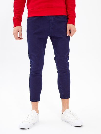 CROPPED STRAIGHT SLIM FIT JEANS