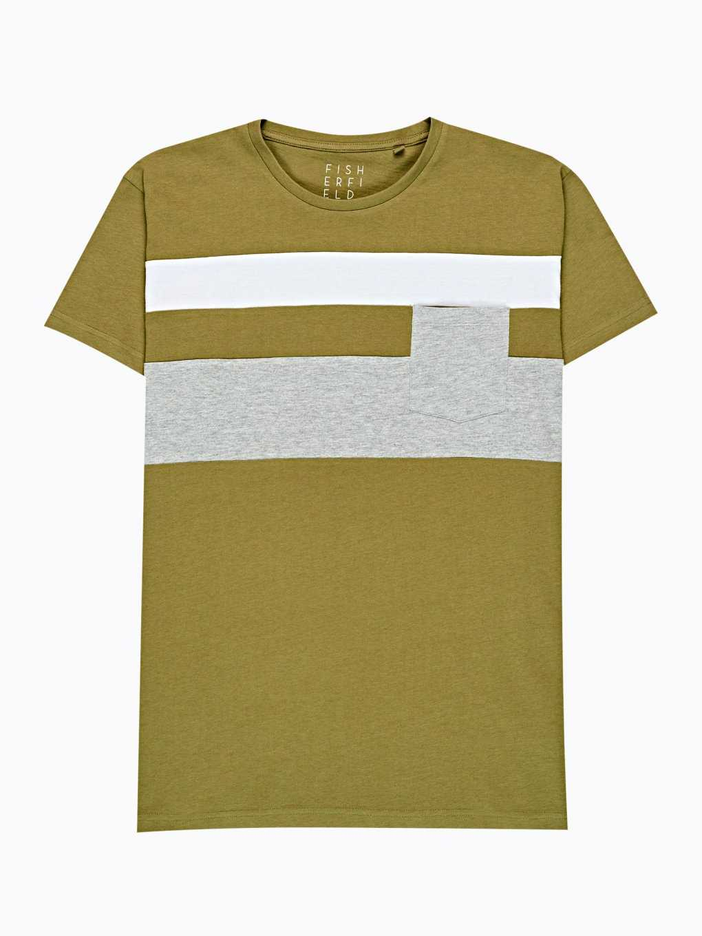 PANELED T-SHIRT WITH CHEST POCKET