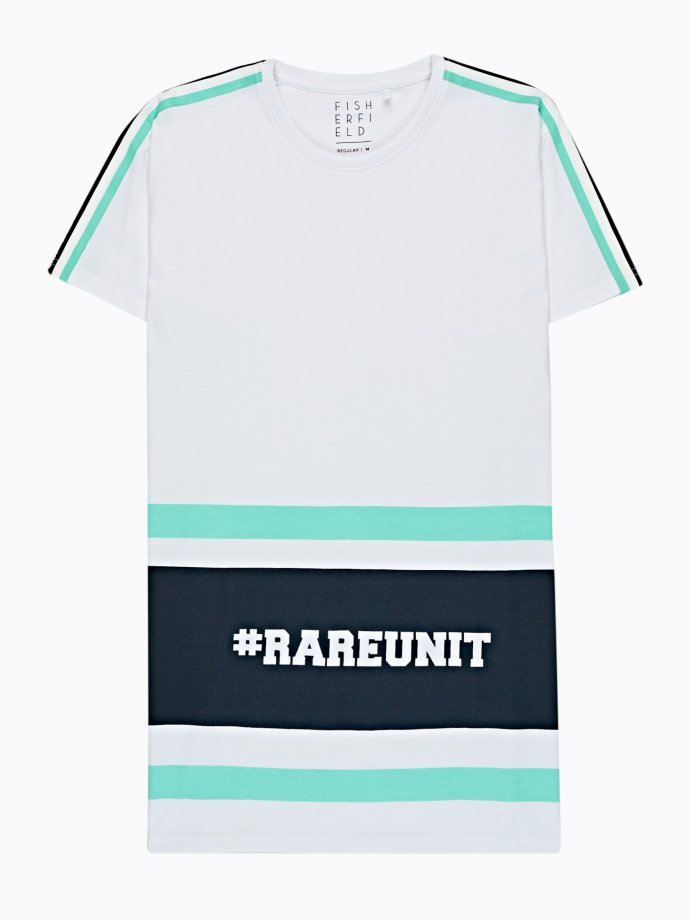 TAPED T-SHIRT WITH PRINT