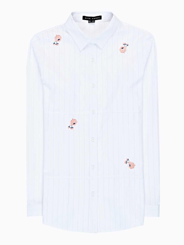 Strukturovaná košile s výšivkou