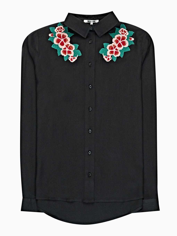 Viskózová košeľa s výšivkou