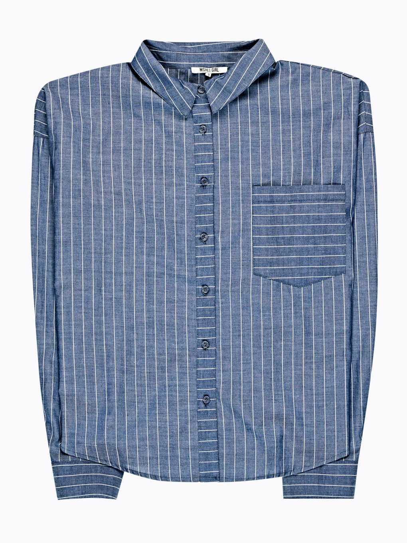 Proužkovaná košile s výšivkou