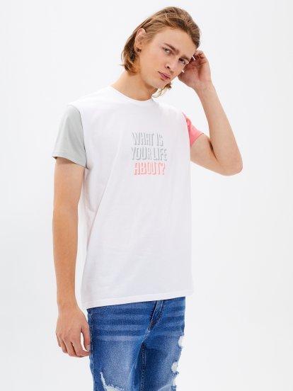 Tričko s kontrastnými rukávmi