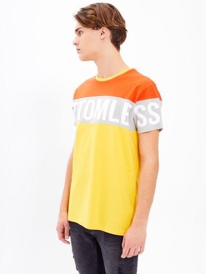 Vícebarevné tričko s potiskem