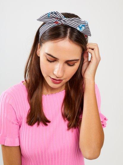 Prążkowana opaska do włosów