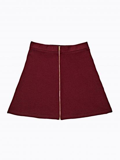 Skater skirt with front zipper