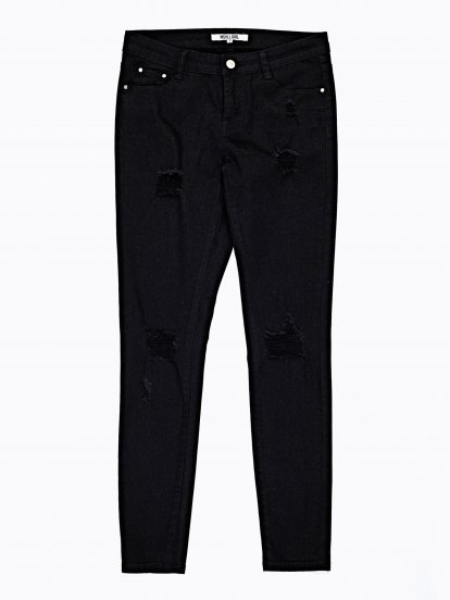 Kalhoty skinny s dírami