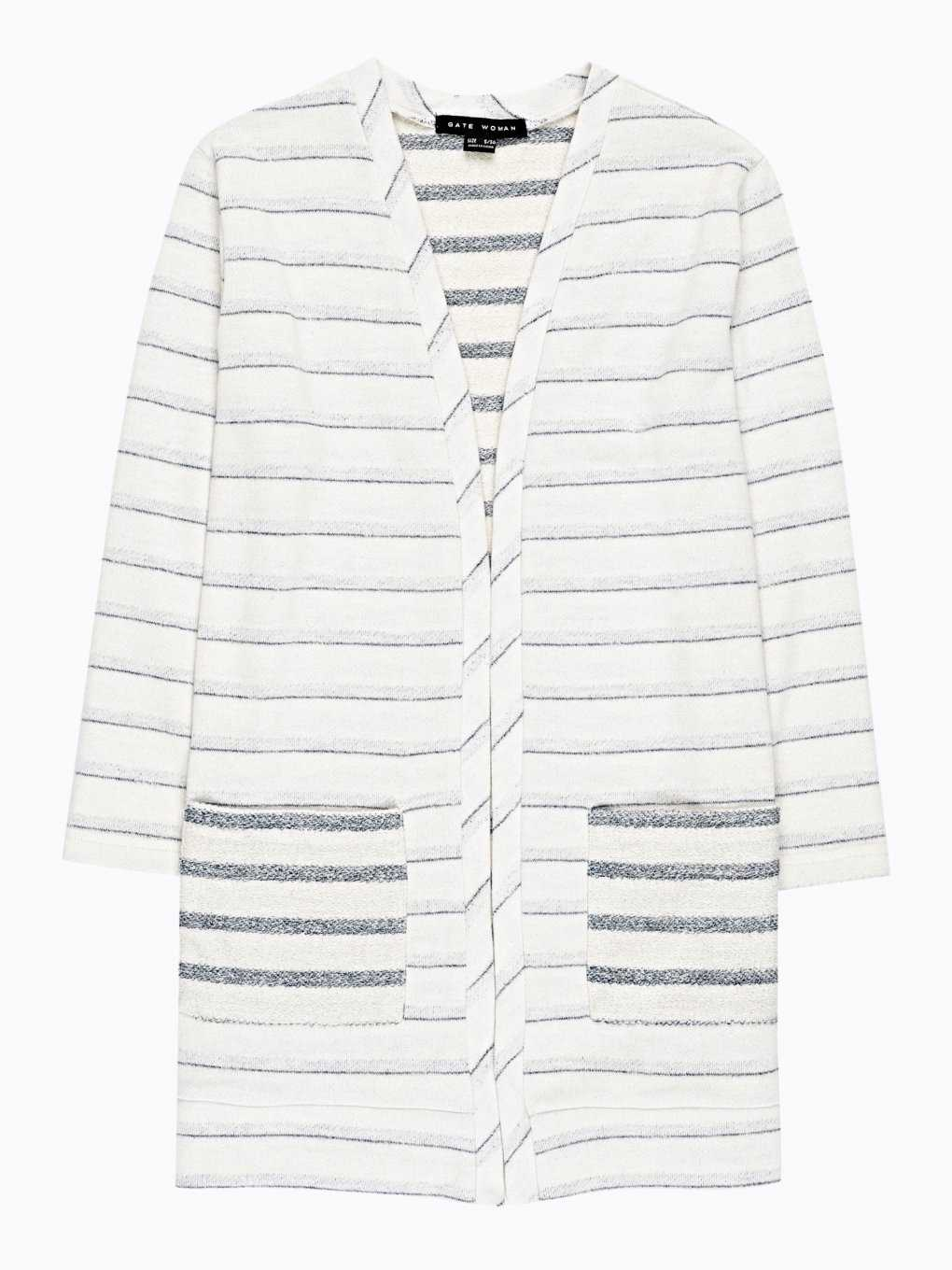 PROLONGED STRIPED BLAZER WITH POCKETS