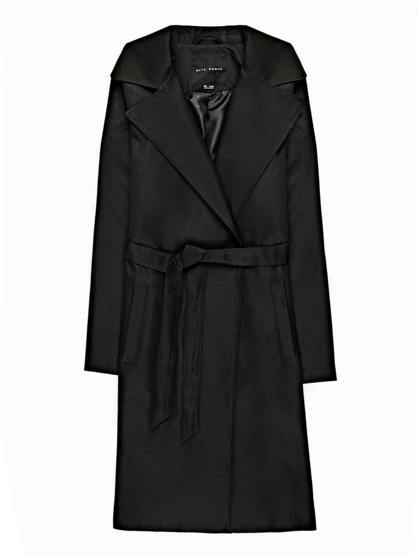 Basic coat with belt