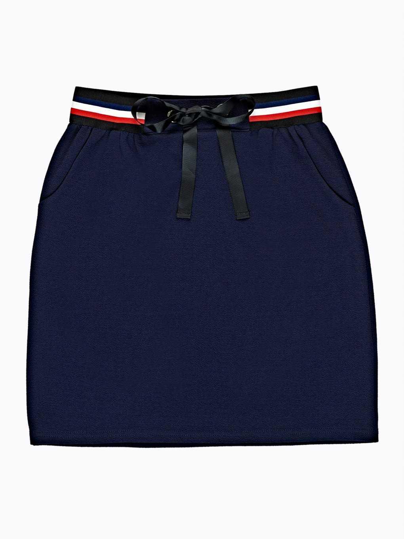 Plain skirt with stripes