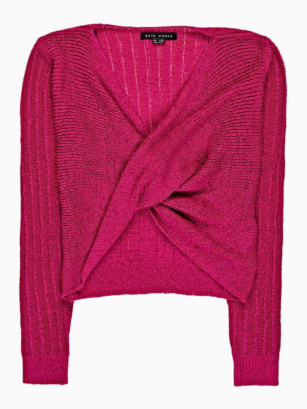 Knot front pullover