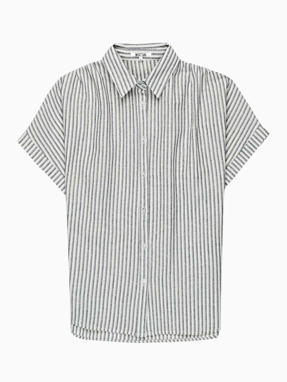 Bavlněná proužkovaná široká košile