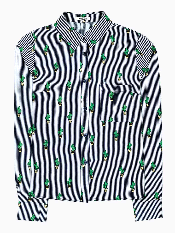 Viskózová košeľa s potlačou