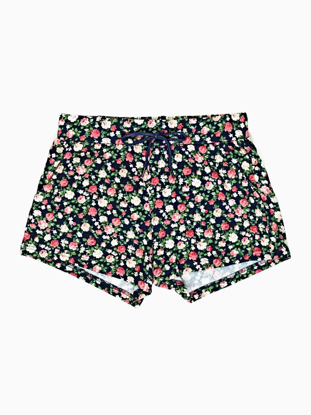 Floral print sweat shorts