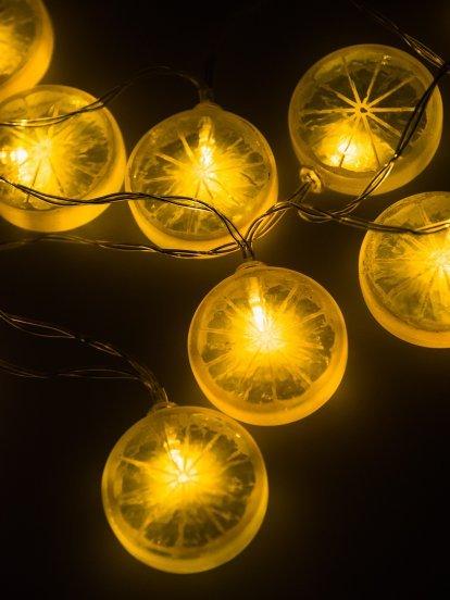 Svetelná reťaz citróny