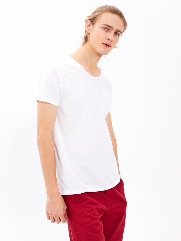 Basic slim fit t-shirt with pocket