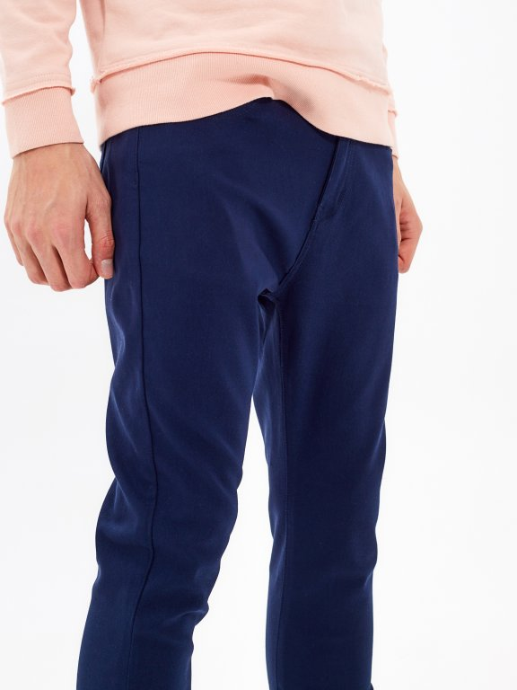 Cropped stretch trousers