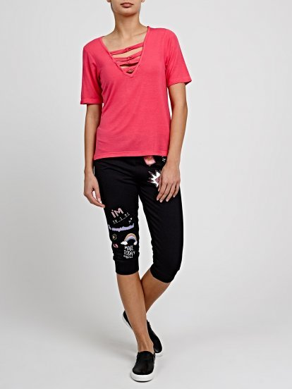 3/4 LEG SWEATPANTS WITH PRINTS