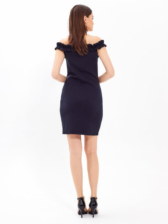 Off-the-shouldler bodycon dress