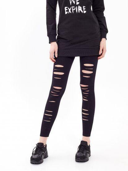 Distressed leggings