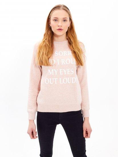 Sweatshirt with message print