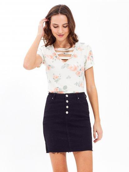 Floral print bodysuit