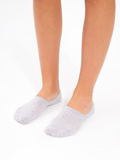 2-PACK FOOTIES WITH SILICONE HEELS