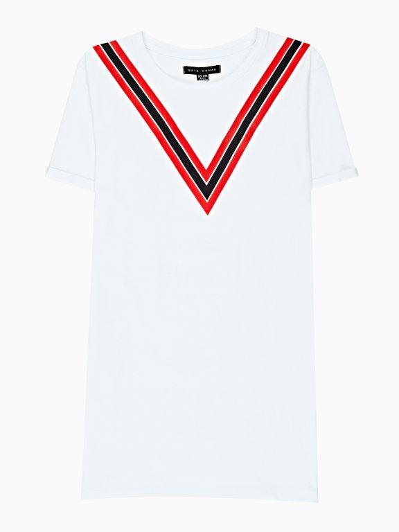 Długa koszulka z nadrukiem