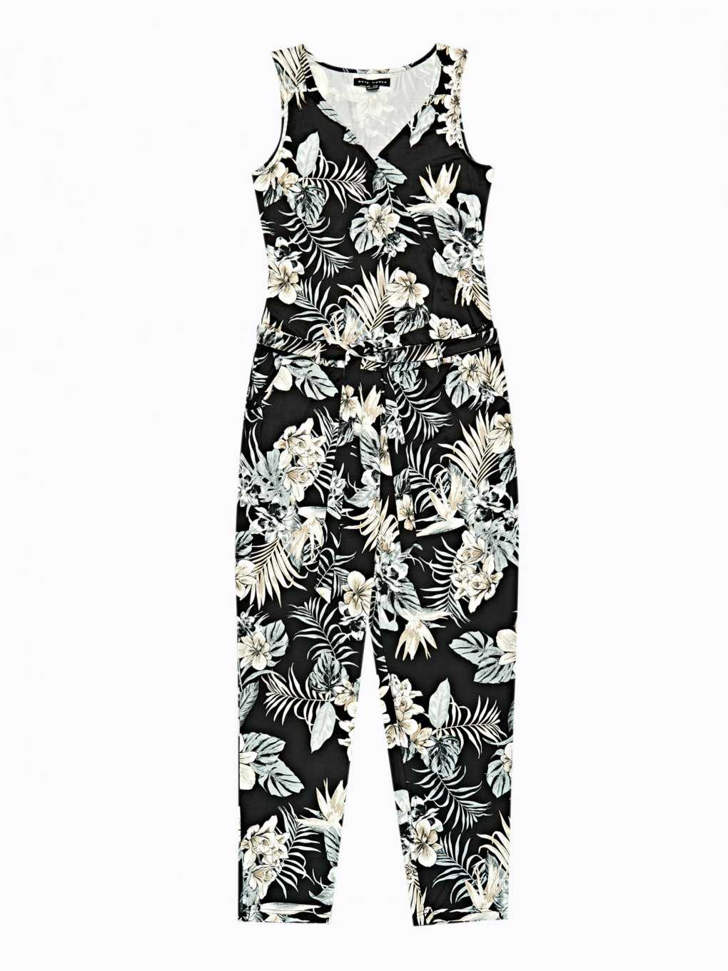 Long floral print jumpsuit