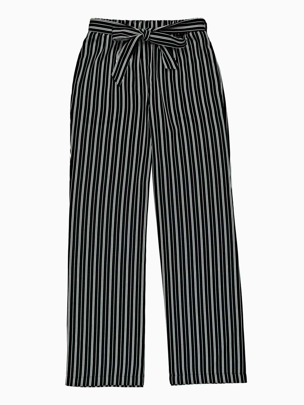 Striped wide-leg trousers