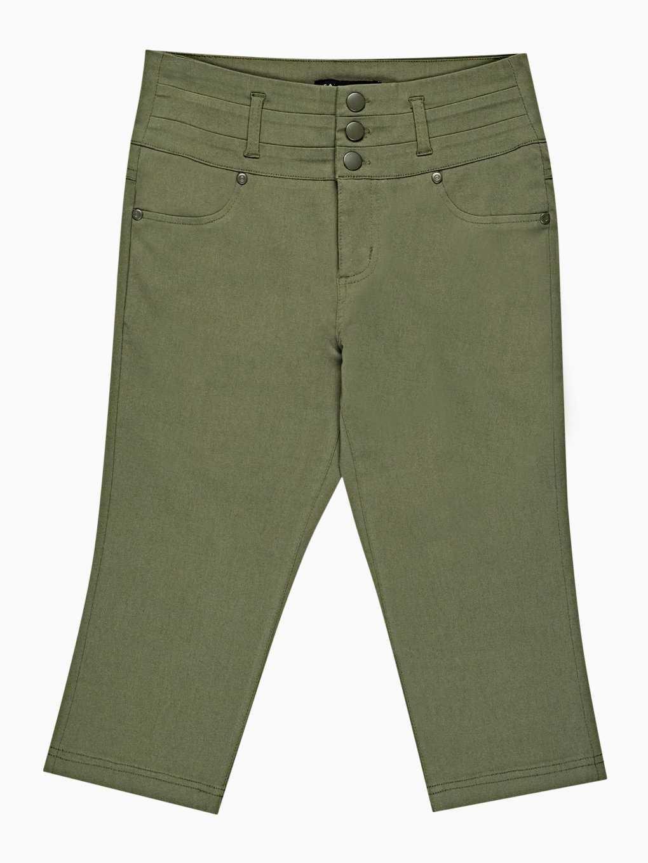 Spodnie ze stretchem z nogawkami 3/4