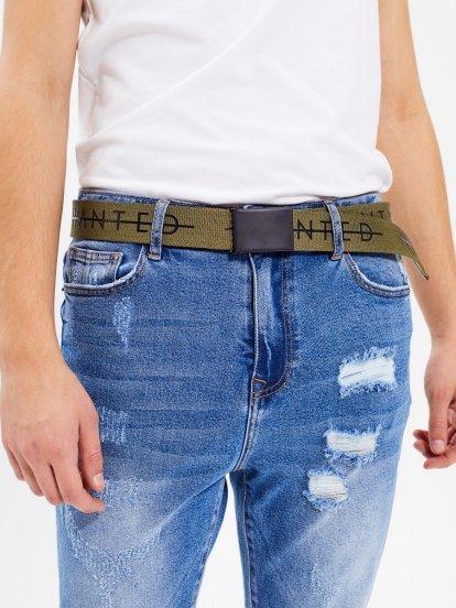 Plátěný pásek s kovovou přezkou