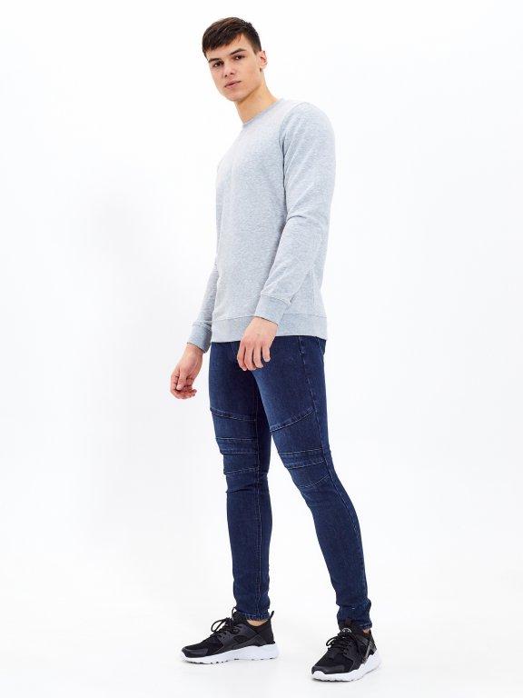 Straight fit biker jeans
