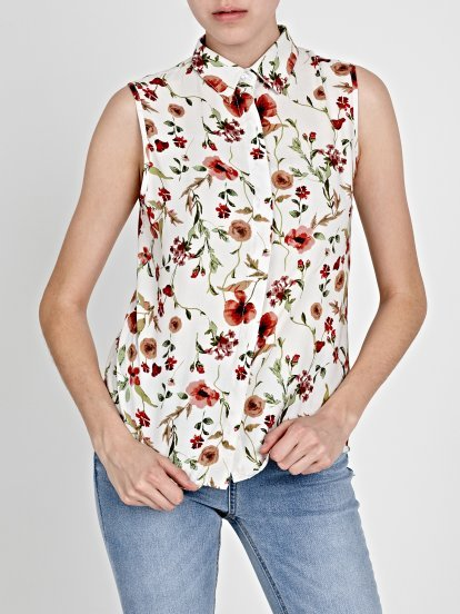 FLORAL PRINT BLOUSE TOP