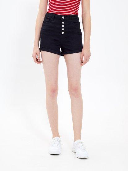 High waist slim shorts