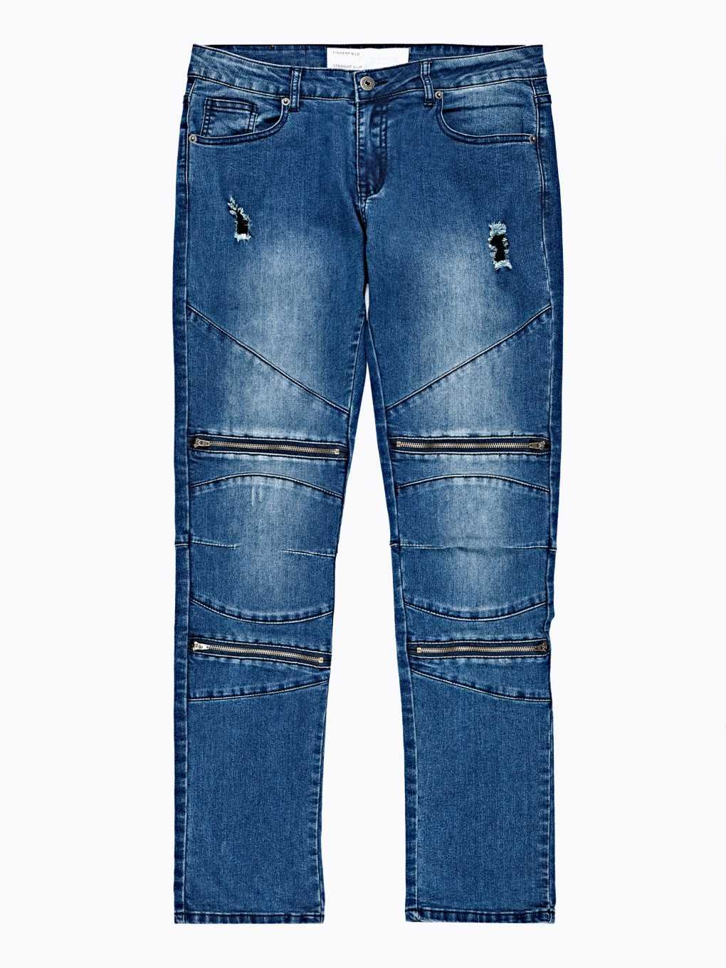 MOTORKÁRSKE DŽÍNSY STRAIGHT SLIM FIT