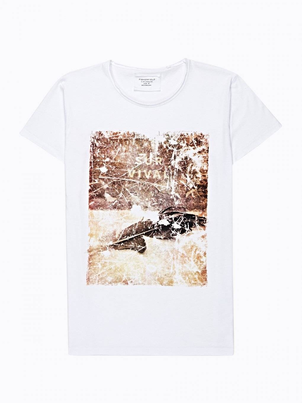 PRINTED T-SHIRT WITH RAW DETAILS