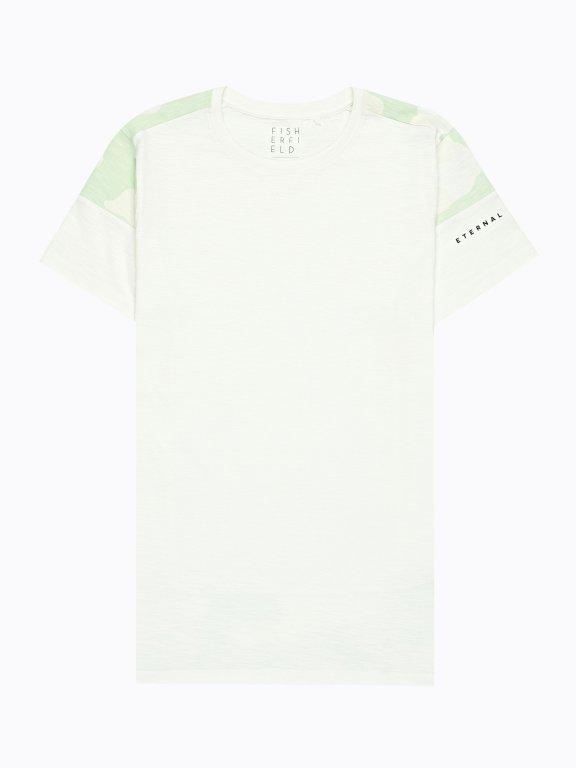 T-shirt with camo print
