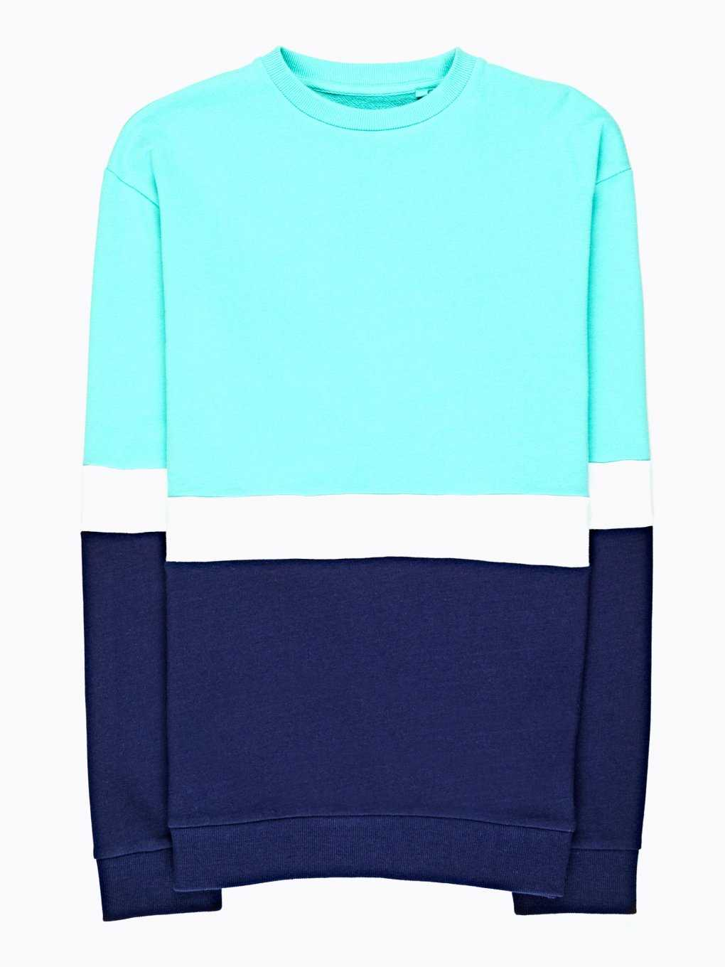 Paneled sweatshirt