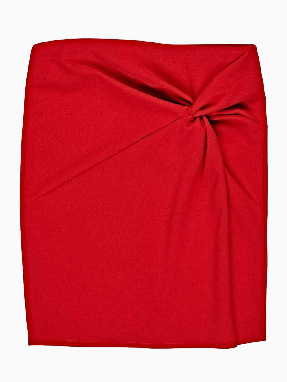 Puzdrová sukňa s uzlom