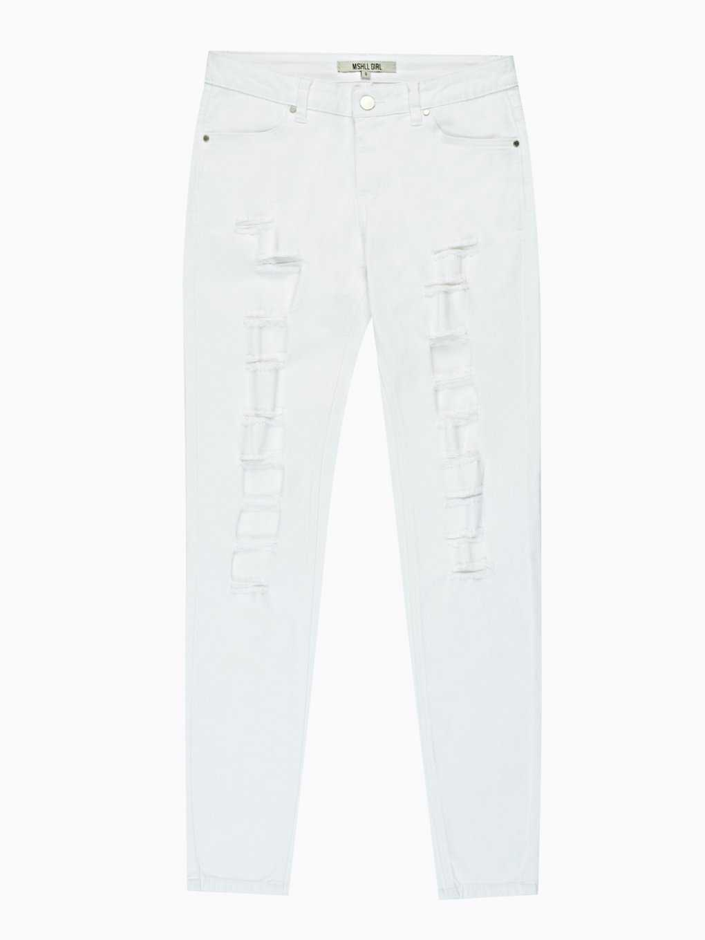 Distressed skinny trousers