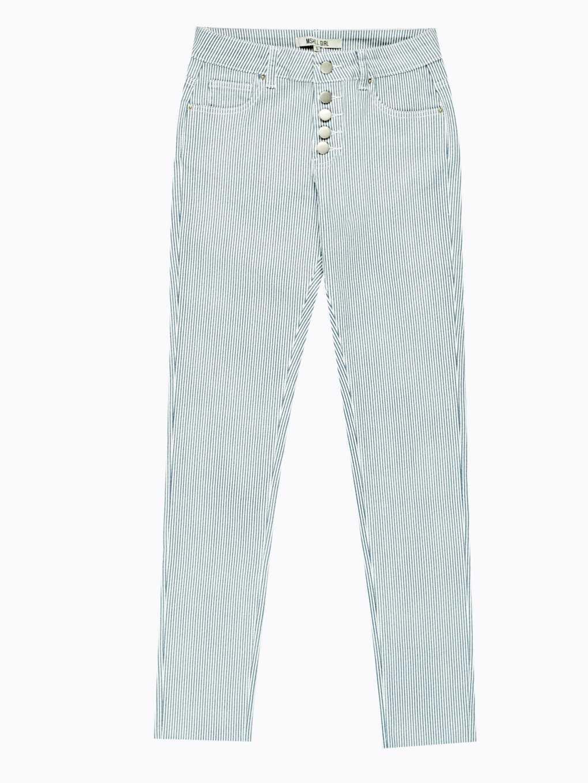 Prúžkované nohavice skinny