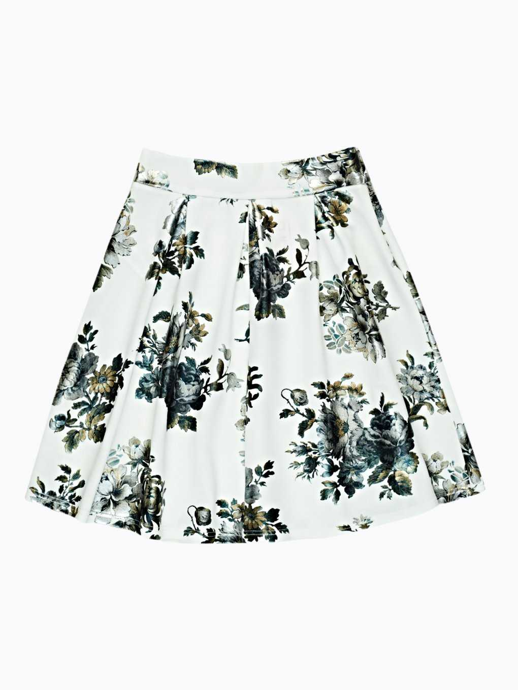 A-line skirt with floral print