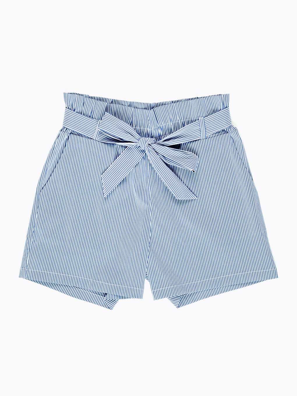 Striped paper bag shorts