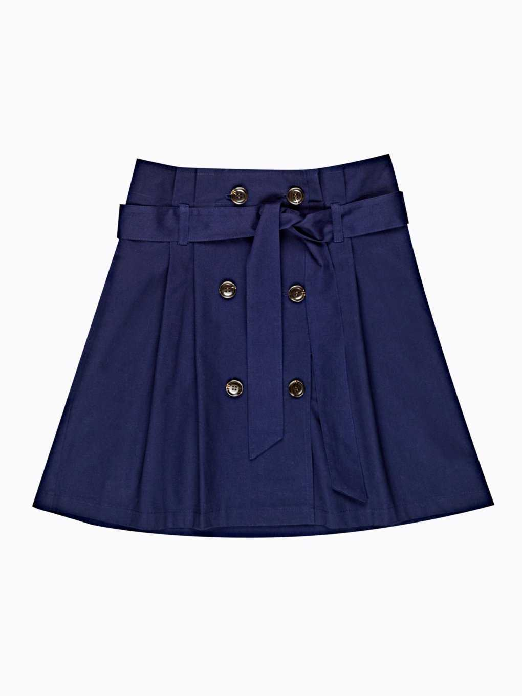 Paper-bag skirt with buttons