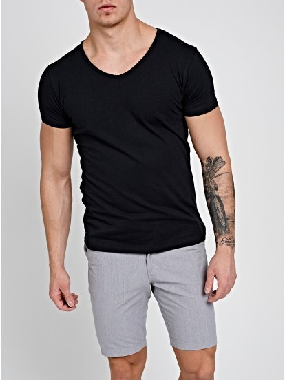 V-NECK T-SHIRT WITH PRINT